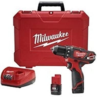 New Milwaukee 2407-22 M12 3/8  12 Volt Cordless Drill Drill Kit With Case