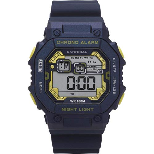 Cannibal CD277-05 - Reloj digital con cronógrafo, correa de silicona, color azul