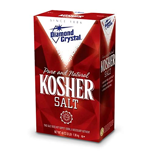 Diamond Crystal Pure and Natural Kosher Salt, 48oz (Pack of 3) by Diamond