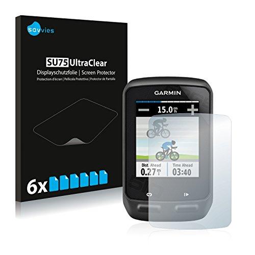 savvies 6-Pezzi Pellicola Protettiva Compatibile con Garmin Edge 510 Protezione Schermo Trasparente
