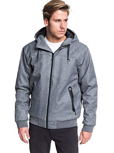 Quiksilver Brooks 5K-Veste imperméable pour Homme, Medium Grey Heather, FR (Taille Fabricant : XS)