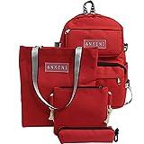 Paquete de bolsas de escuela para niños Bolso de mochila para la bolsa de la escuela de la escuela de la escuela de la muchacha del niño para la niña set 4pcs Niño niña adolescente bolsa de la escuela