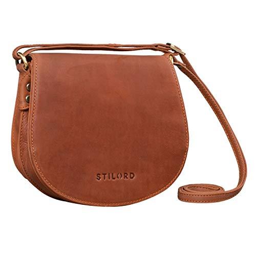 STILORD 'Lilly' Kleine Leder Tasche Damen Vintage Umhängetasche Handtasche zum Ausgehen Abendtasche Partytasche Freizeittasche für Frauen...