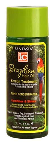 Fantasia Ic Brazilian Hair Oil of Keratin Treatment Max 51% OFF 4 Regular dealer Pack