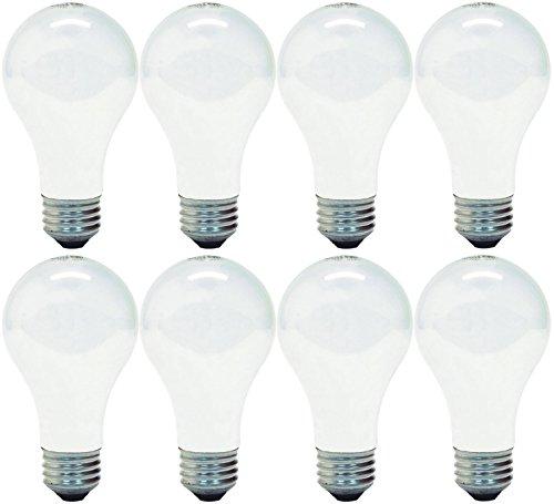 GE Lighting 66248 Soft White 53-Watt, 890-Lumen A19 Light Bulb with Medium Base, 8-Pack