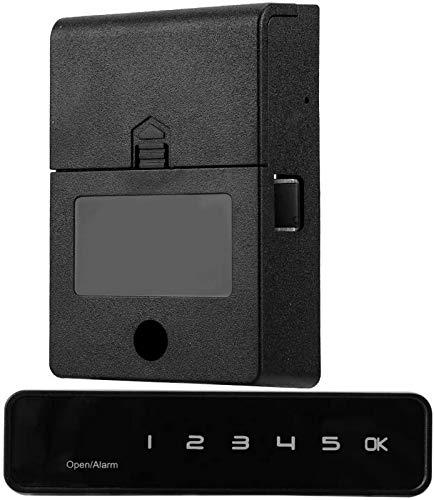 Cerradura puerta, cerradura inteligente huellas dactilares WiFi, TUYA, resistente al agua, cerradura contraseña inteligente biométrica, con 5 aperturas, alarma bajo voltaje, encendido automático, te