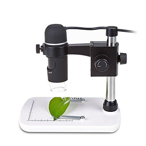 MAOZUA 5MP USB Mikroskop 20x-300x Digitale Mikroskope für Vista / Win7 / Win8 /Win 10 Mac mit Professioneller, höhenverstellbarer Ständer, 8 LED Leuchte
