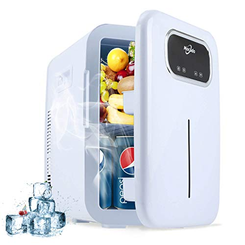Mini Fridge Skincare makeup Refrigerator - Small Portable Fridge with Temperature Control Panel, AC/DC Freezer ( 20 Liter ) Glass Door Cooler & Warmer For Skin Care, Breastmilk, Medications, Bedroom, Car, Dorm.