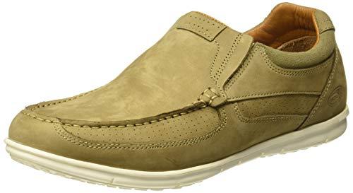 Woodland Men's Khaki Genuine Leather Loafers (GC 2809118 Khaki) - 7 UK/ (41 EU)(8 US)