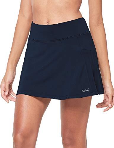 BALEAF Faldas de tenis plisadas atléticas para mujer con pantalones cortos de malla para correr de golf con volantes y bolsillos de bola. - azul - Medium