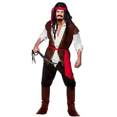 wicked Caribbean Pirate Sea Ocean Parrot Boat Fancy Dress Costume