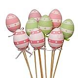 VALICLUD 9Pcs Uovo di Pasqua Fiore Raccoglie Rami di Albero di Pasqua Artificiale Forniture di Composizioni Floreali di Pasqua (Colore Misto)