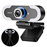 Webetop Webcam 1080P Streaming Webcam with Light and Tripod USB Webcam Built in Microphone for Desktop Laptop PC Online Learning, Video Calling Skype