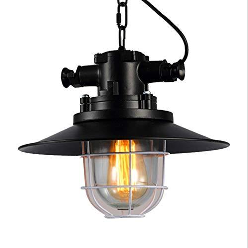 XFSE Luz de Techo Retro Viento Industrial artesanía de Hierro Forjado araña Restaurante Europeo Bar E27 lámpara de aleación de Aluminio araña