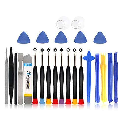 Herramientas de desmontaje Kit de Herramientas de reparación de teléfonos móviles Destornillador Inteligente para teléfonos móviles (25 Piezas Multicolor)
