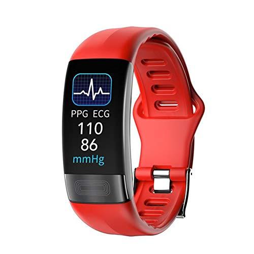 Smartwatch, Reloj Inteligente, Pulsera Actividad con Fitness Tracker,Cronómetro, Calorías, Podómetro, Pulsómetro, Monitor de Sueño, IP67 Impermeable, Reloj de Fitness para Mujer Hombre Niño,Rojo