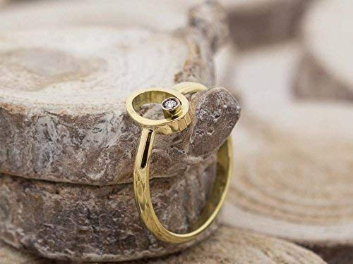 Geometrie - Diamantring aus 18ct Gold
