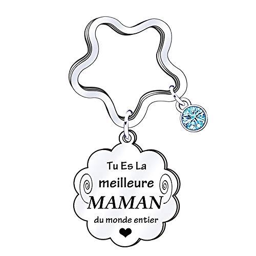 Maman porte-clés cadeaux de maman cadeau danniversaire de maman anniversaire fête des mères de fils de fille cadeau porte-clés maman cadeau de fête des mères