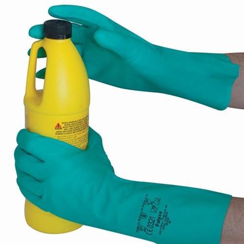 Polyco 925 Nitri Tech III Gants résistant aux produits chimiques, une paire, taille 8/Medium, Vert