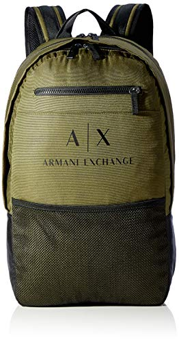 ARMANI EXCHANGE URBAN TECH BACKPACK, Zaino Uomo, Verde militare, Taglia unica
