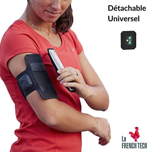 """Shapeheart Sportarmband + Herzfrequenzmesser kompatibel mit z.B. Apple iPhone 8 Plus / XR / Xs Max / 11 [L / bis 6,2\"""" I Laufzeit 35 Std I Magnetisches Armband I Tasche jederzeit von Armband trennbar]"""