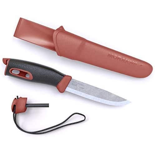 Morakniv Faca para uso externo com lâmina fixa de 9,5 cm da Companion Spark, vermelha, tamanho único (M-13571)