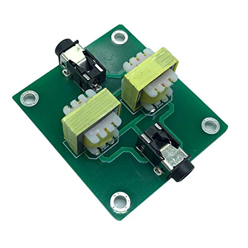 harayaa Audio Estéreo Antiinterferencias Filtro de Ruido Acústico Señal Aislante Audio