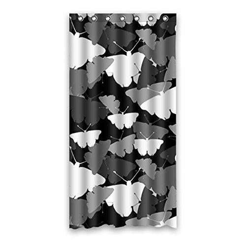 Doubee Douchegordijn, duurzaam vlinder, waterdicht, polyester, douchegordijn, douchegordijn, 90 cm x 183 cm 36