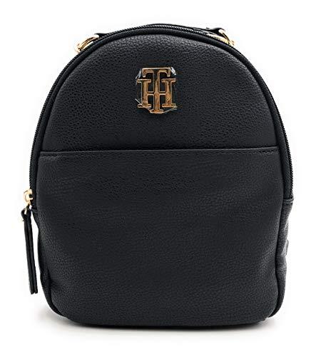 Tommy Hilfiger Mochila de ciudad, minirmochila, mochila de ocio, 20 x 20 x 10 cm, asa de transporte, equipaje de mano, color negro 0538