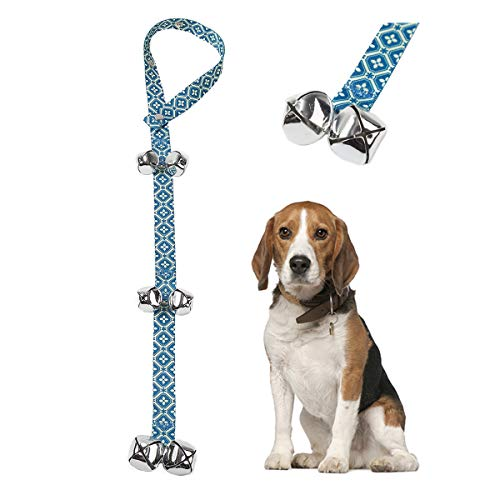 Pet Heroic Dog DoorBells for Potty Training & House Training, Unique Style & Premium Quality, Loud & Crisp DoorBells, Adjustable Door Bell Length for Small, Medium and Large Dogs