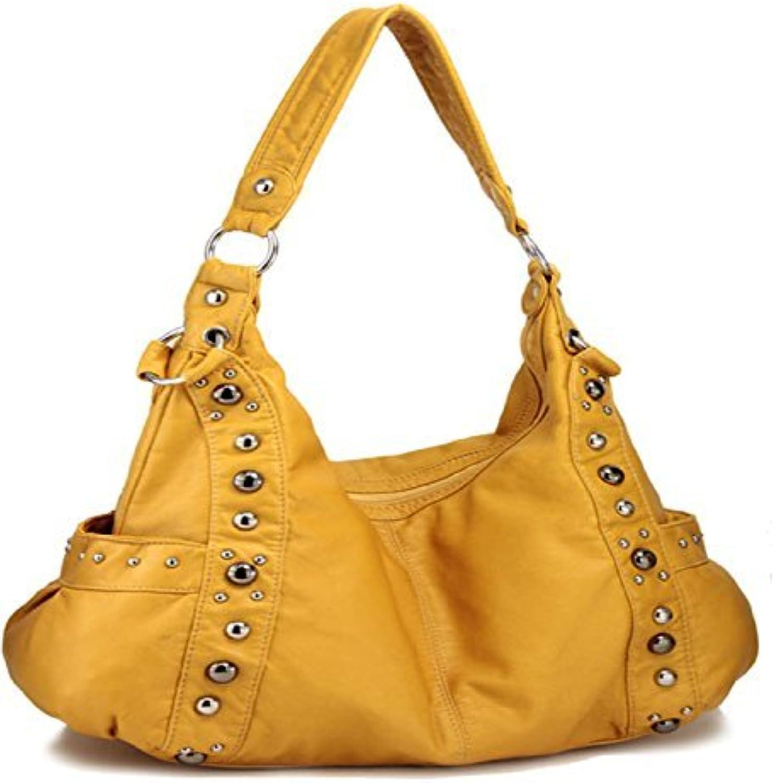 HBM Yellow Designer Inspired Studded Purse