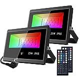 MustWin RGB Strahler 25W LED Strahler 2er mit...