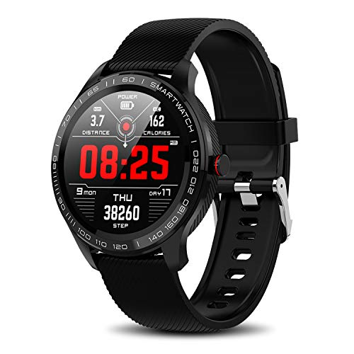 Yocuby Sport Smartwatch for Android iOS Phone, IP68 Waterproof Fitness Tracker Watch with HR Monitor, Step Counter, Calorie Counter Bluetooth Activity Tracker Smart Watch for Men