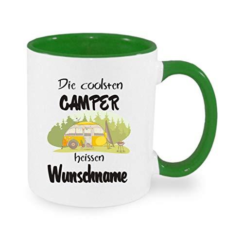 Crealuxe (Wunschname) die coolesten Camper heißen - Kaffeetasse mit Motiv, Bedruckte Tasse mit Sprüchen oder Bildern