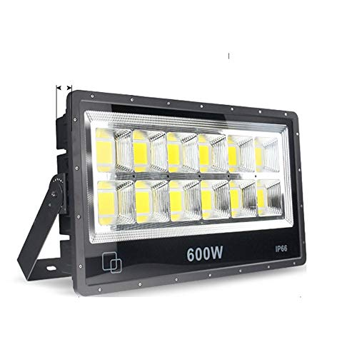 Wlnnes 50W-100W-150W-200W-300W-400W-500W-600W LED Floodlight Outdoor Security Lights, IP66 Waterproof,3500K/6000K,Outdoor Flood Light Wall Light for Garage, Garden and Forecourt (Color : 600W)