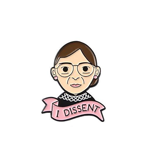 Broche de justicia para mujer, insignia de los derechos, gorro, mochila, abrigo, solapa Pin predeterminado