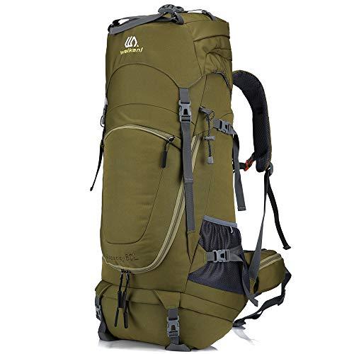 SHADOW DOMAIN Wanderrucksack Trekkingrucksack Nylon reiserucksack Camping Rucksack (Armeegrün, 80L)