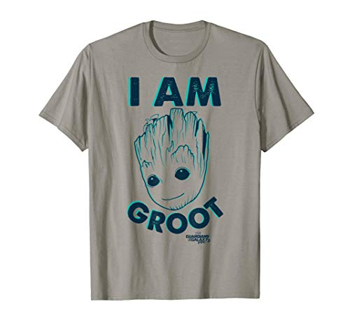 Marvel Guardians Vol. 2 I Am Baby Groot Teal Graphic T-Shirt