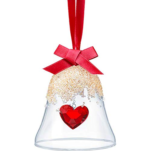 SWAROVSKI Authentic Merry and Festive Joyful Ornament Heart Crystal Christmas Bell