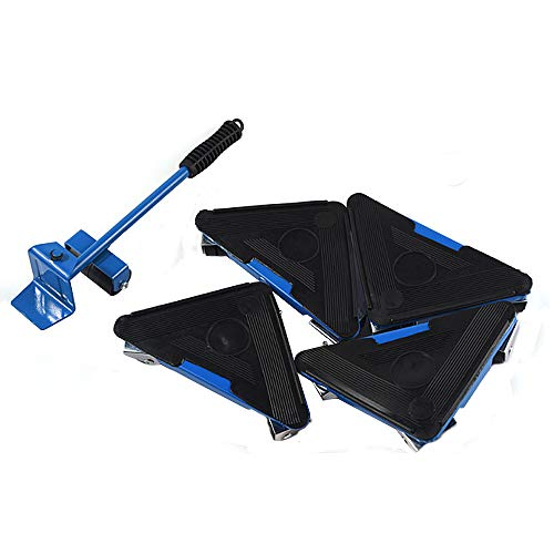Moving Tools Set 5 Pieces Triangle Furniture Mover Roller Heavy-Duty Furniture Lifter Mover for Move The Heavy Large Furniture or appliances with Ease