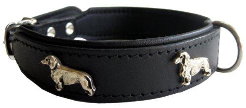 Dogs Stars - Collare in pelle resistente con motivo a bassotto, diverse misure e colori, ottima qualità