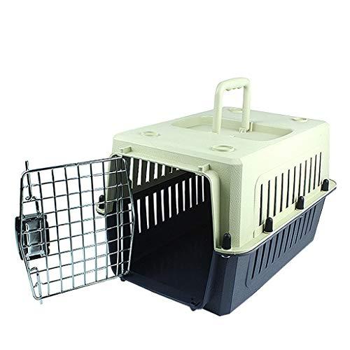 Npeiyi Transportbox – in Übereinstimmung mit den IATA-Anforderungen für den Transport von lebenden Tieren, große Transportbox (grau-schwarz) (Größe M: 50 x 34 x 34 cm)