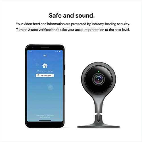 Google Nest Cam Indoor - Wired Indoor Camera for Home Security - Control with Your Phone and Get Mobile Alerts - Surveillance Camera with 24/7 Live Video and Night Vision