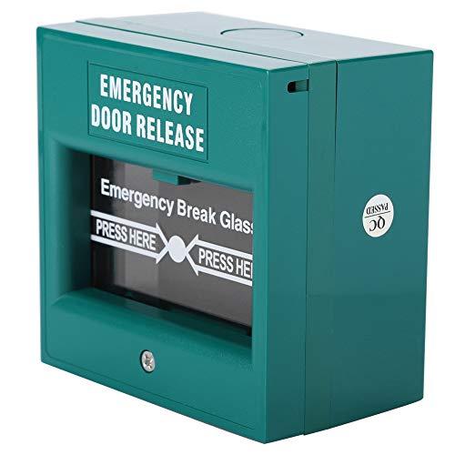 Nicoone Puerta de Salida de Emergencia Botón de Alarma contra Incendios Interruptor de Rotura de Puerta de Seguridad para El Hogar