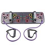 BINGMAX Sistema de Tabla de Empuje con Cuerda de Arrastre, 13 en 1 Herramientas para Ejercicios de musculación Accesorios para Ejercicios de Entrenamiento