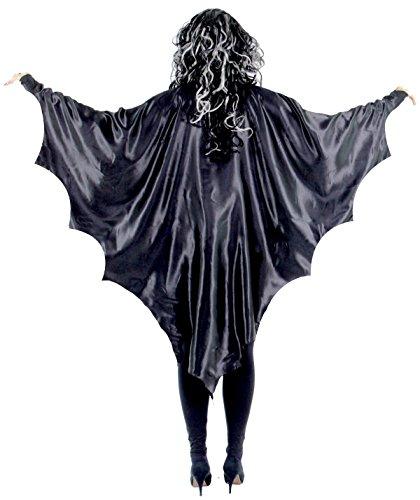Schwarze Vampirflügel Schwarze Vampir Fledermaus Flügel Fledermausflügel Cape Umhang Halloween Horror Blutsauger