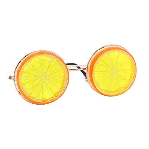 iEFiEL Partybrille Lustige Zitronen Brille Hochzeit Party Spaßbrillen Fotografie Zubehör Erwachsene Brillen Accessoire Orange Einheitsgröße