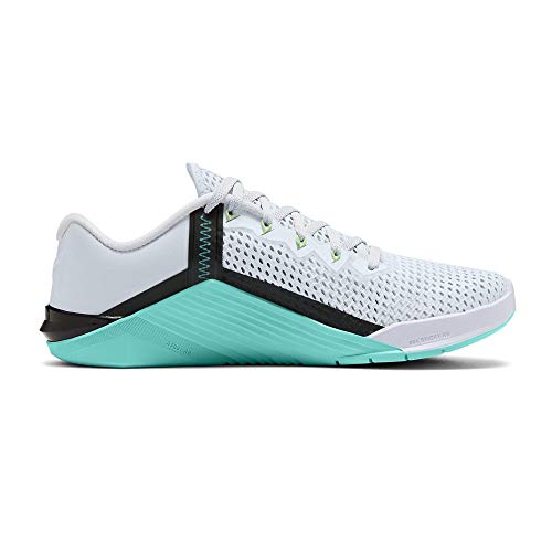Nike Wmns Metcon 6, Scarpe da Ginnastica Donna, Football Grey/Flash Crimson-Hyper Jade-Black-White-Vapor Green, 39 EU