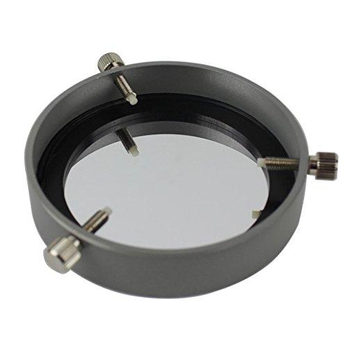 Gosky, filtro solare in alluminio per telescopio, colore argento, diametro 100mm,regolabile, diametro dell'estremità anteriore da 66 a 94mm