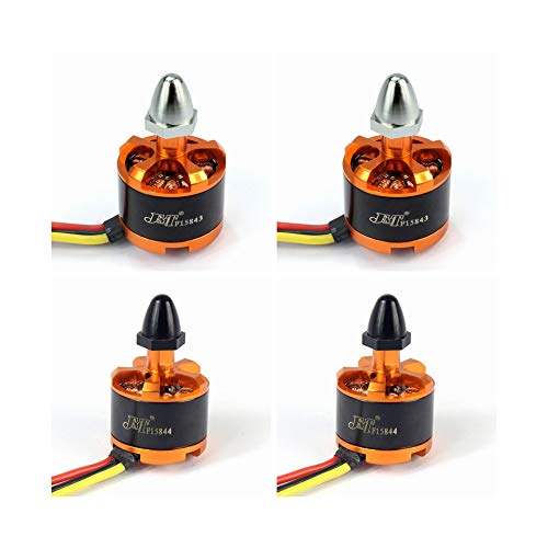 QWinOut JMT 920KV Brushless Motor with Motor Cap for 3-4S Lipo F330 F450 F550 dji Phantom Cheerson CX-20 DIY RC Quadcopter Drone (CW2+CW2)
